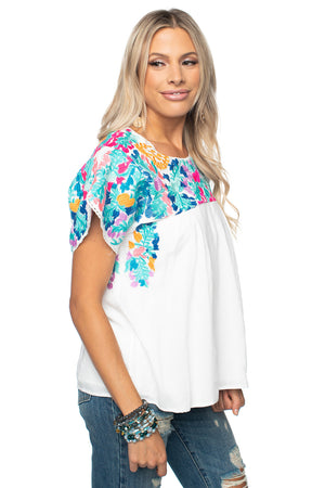 BuddyLove Greek Embroidered Top