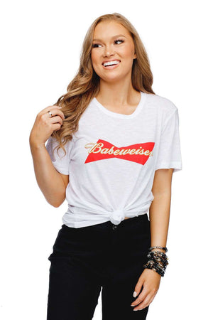 BuddyLove Harrison Heathered White Cotton Graphic Tee - Babeweiser - Buddy Love Clothing Label