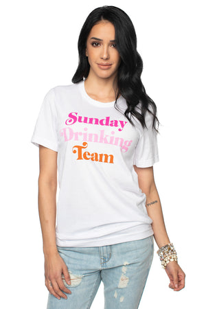 Women's Graphic Tee Sunday Drinking Team