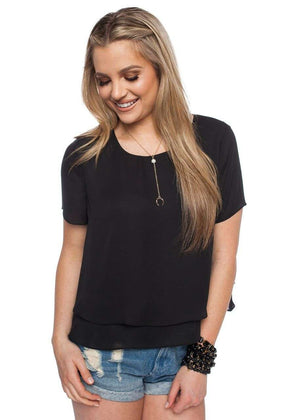 BuddyLove Joey Top - Black - Buddy Love Clothing Label