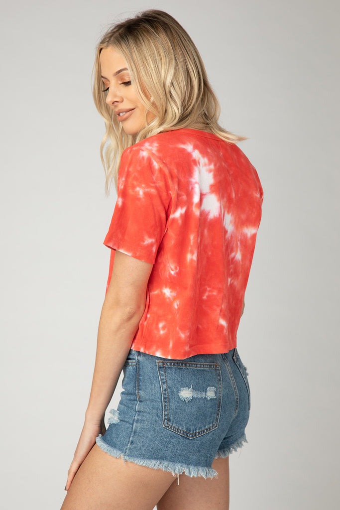 BuddyLove Watson Tie-Dye Cropped Tee - Support Your Local Tailgate