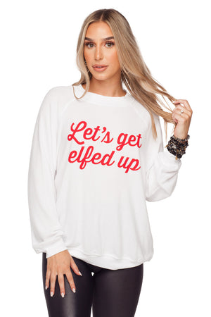 BuddyLove Keith Graphic Sweater - Let's Get Elfed Up