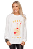 BuddyLove Keith Graphic Sweater - Peace on Earth