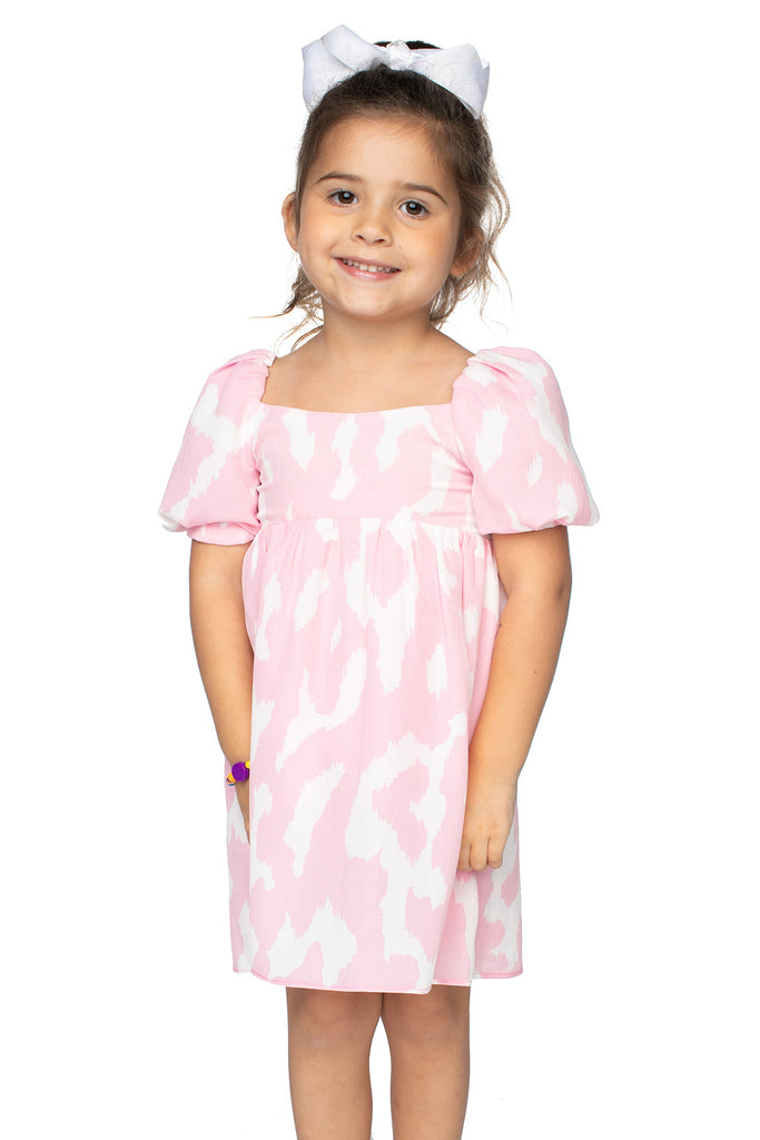 BuddyLove Kids Kennedy Baby Doll Dress - Abstract Pink,12M / Pink / Abstract