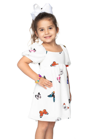 BuddyLove Kids Kennedy Baby Doll Dress Butterfly