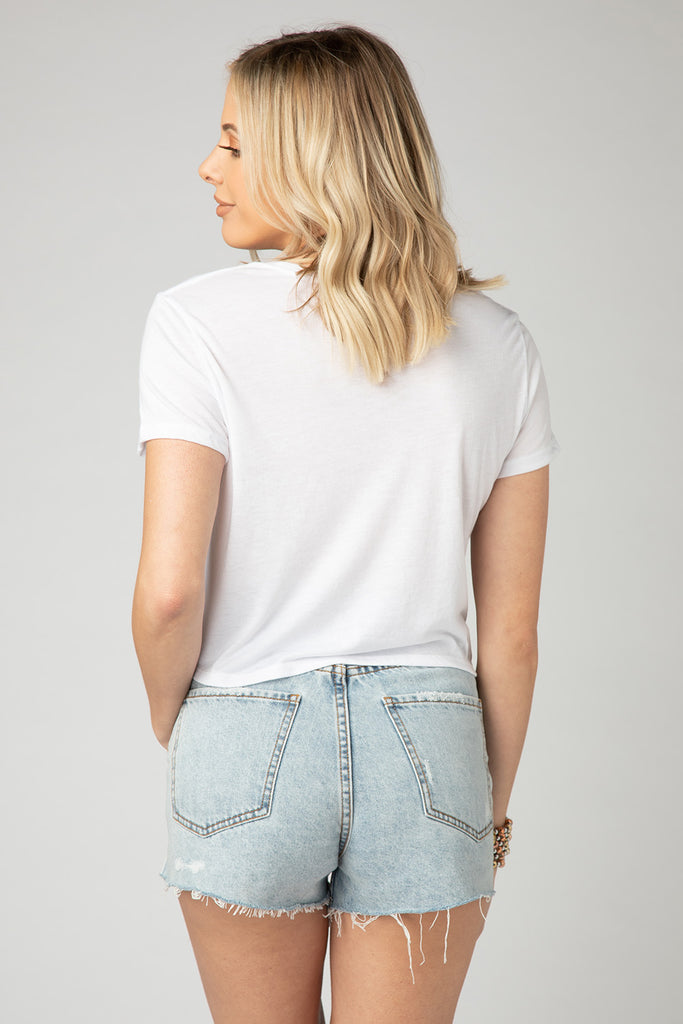 BuddyLove Kliff Cropped Graphic Tee - Vacay Vibes