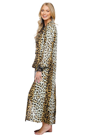 BuddyLove Loretta Long Sleeved Maxi Duster - Serengeti