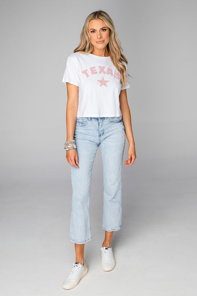 BuddyLove Marcus Cropped Graphic Tee - Texas Star