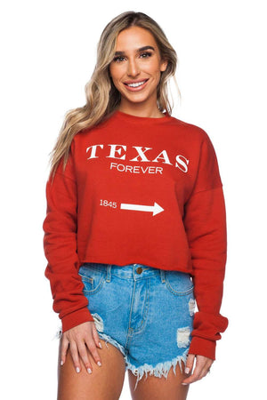 BuddyLove McCoy Graphic Cropped Sweater - Texas Forever - Buddy Love Clothing Label