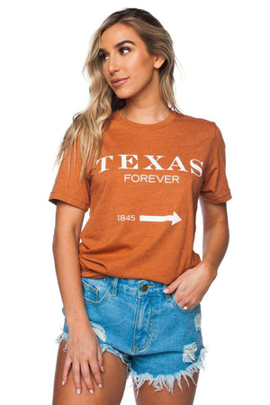 BuddyLove Mac Graphic Heathered Tee - Texas Forever - Buddy Love Clothing Label