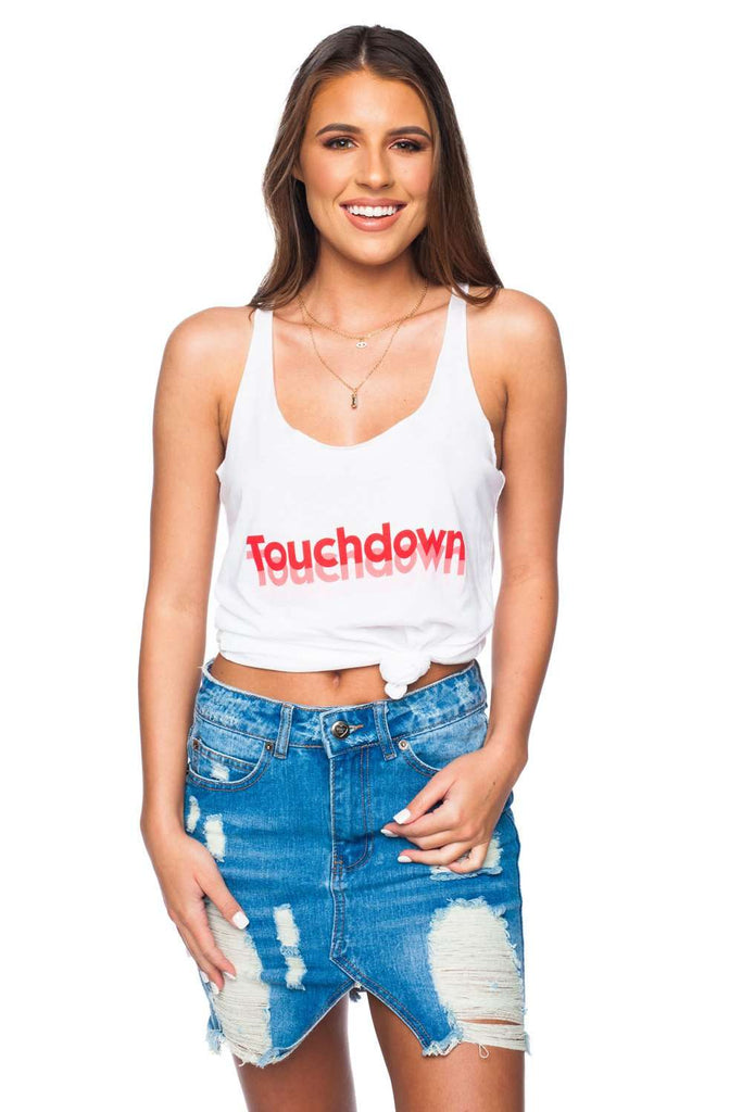 BuddyLove Case Graphic Tank Top - Touchdown Red - Buddy Love Clothing Label