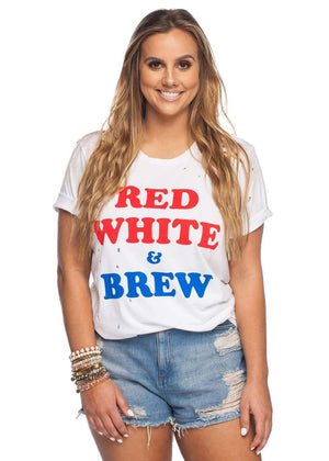 BuddyLove Zeppelin Tee - Red White & Brew - FINAL SALE