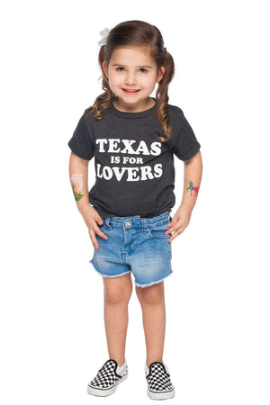 BuddyLove Dak Toddler Tee- Texas Is For Lovers,2T / Grey/White