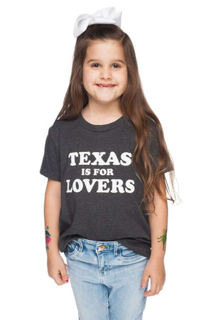 BuddyLove Prescott Youth Tee - Texas is for Lovers,YS / Grey