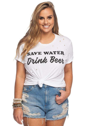 BuddyLove Zeppelin Tee - Save Water Drink Beer - FINAL SALE