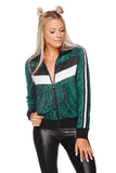 BuddyLove Vonn Elastic Long Sleeved Zip Up Jacket - Forest