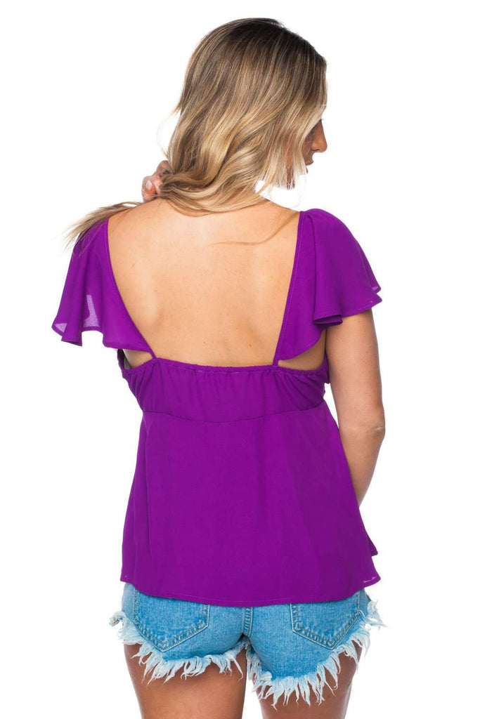 BuddyLove Tailgate Top - Purple - Buddy Love Clothing Label