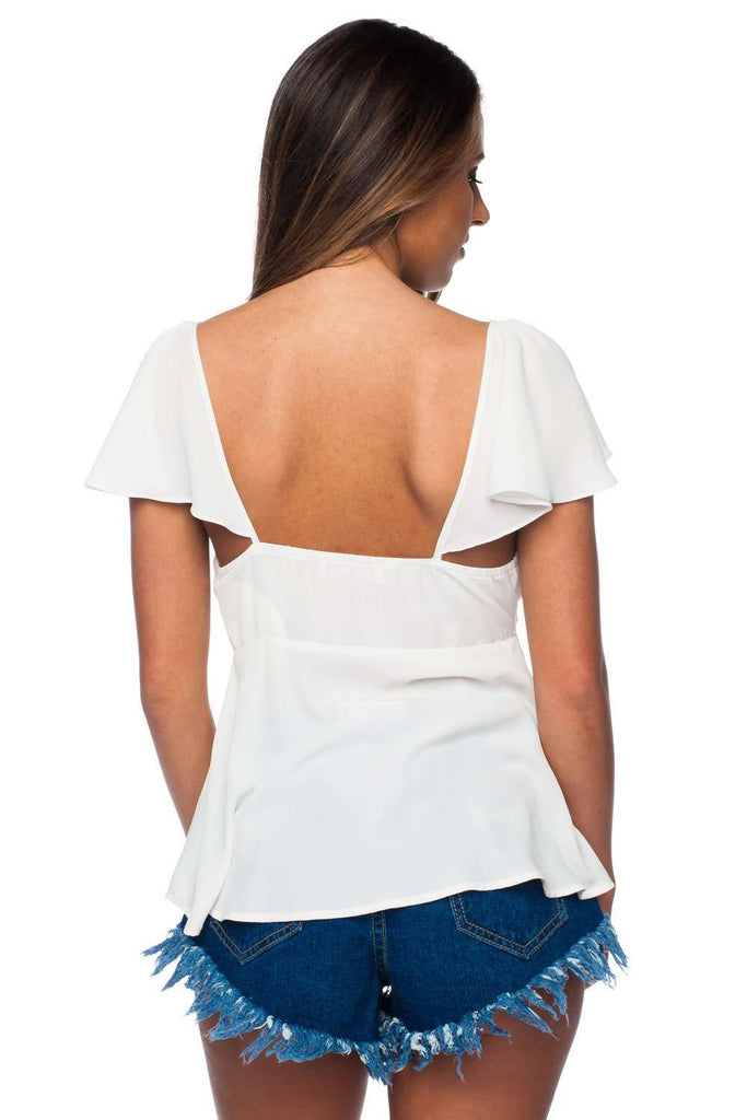 BuddyLove Tailgate Top - White