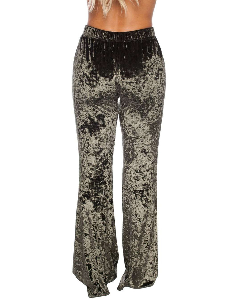 BuddyLove Banks Velvet Pants - Olive - Buddy Love Clothing Label