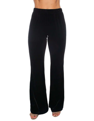 BuddyLove Tyra Velvet Pants - Black - FINAL SALE