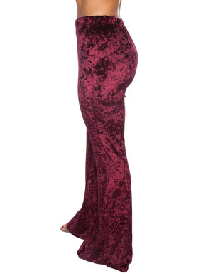 BuddyLove Banks Velvet Pants - Burgundy - Buddy Love Clothing Label