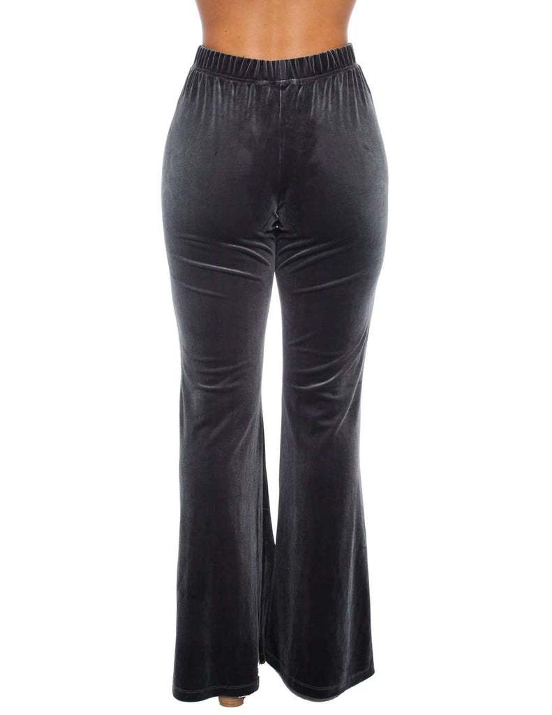 BuddyLove Tyra Velvet Pants - Charcoal - FINAL SALE
