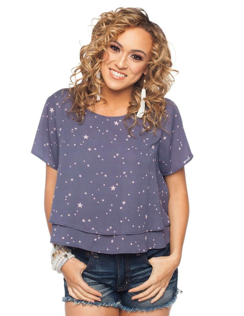 BuddyLove Joey Top - Galaxy - Buddy Love Clothing Label