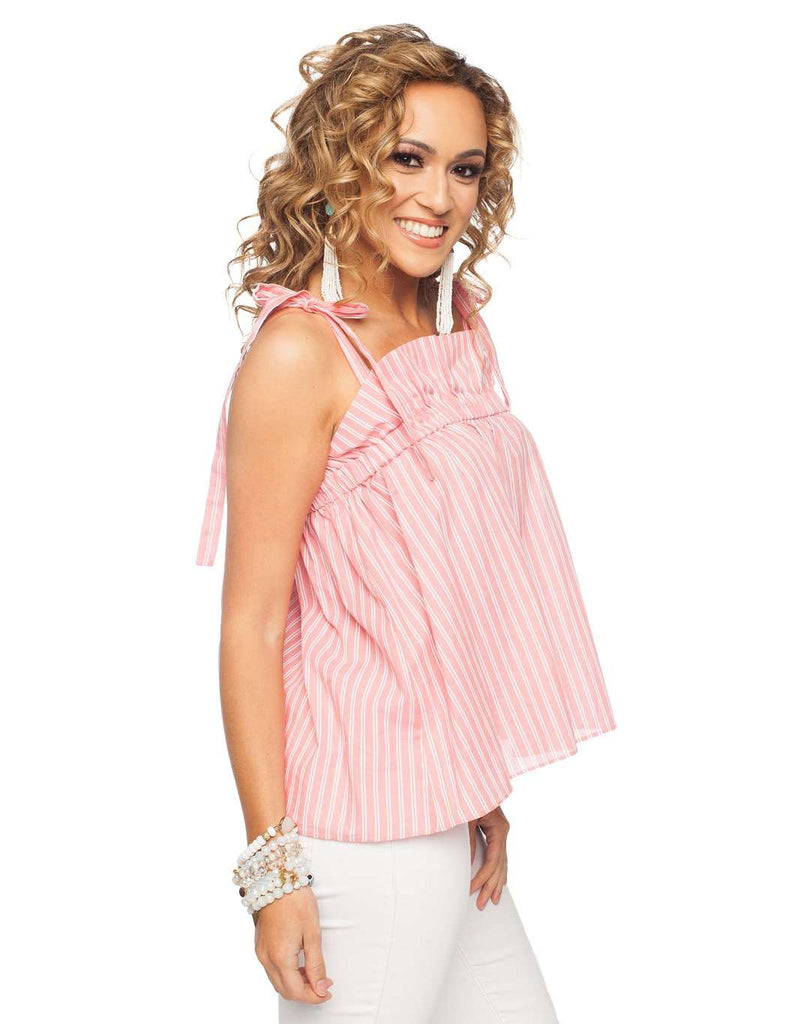 BuddyLove Bermuda Ruffled Tank Top - Coral - Buddy Love Clothing Label