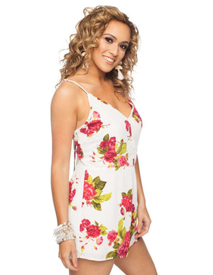 BuddyLove Danielle Romper - Red Rose - Buddy Love Clothing Label