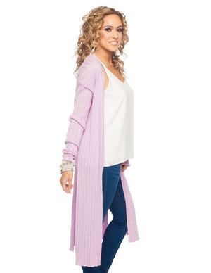 BuddyLove Behati Light Weight Long Sleeved Cardigan - Lavender - Buddy Love Clothing Label
