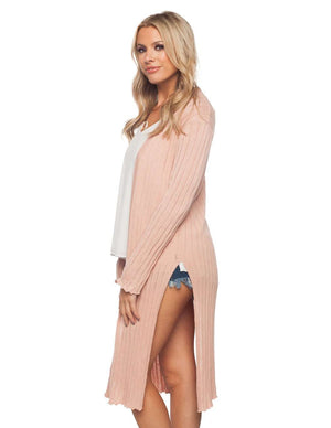 BuddyLove Behati Light Weight Long Sleeved Cardigan - Tan - Buddy Love Clothing Label