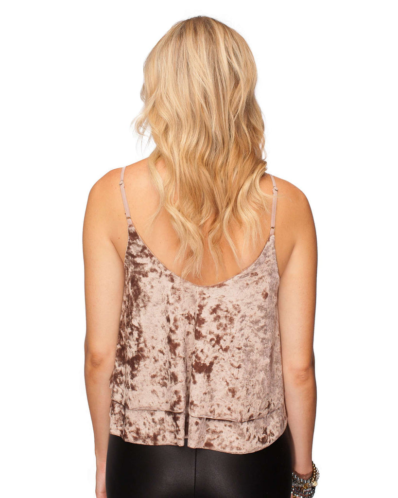 BuddyLove Holly Velvet Cami- Brown - FINAL SALE - Buddy Love Clothing Label