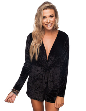 BuddyLove Tamron Romper - Black - Buddy Love Clothing Label