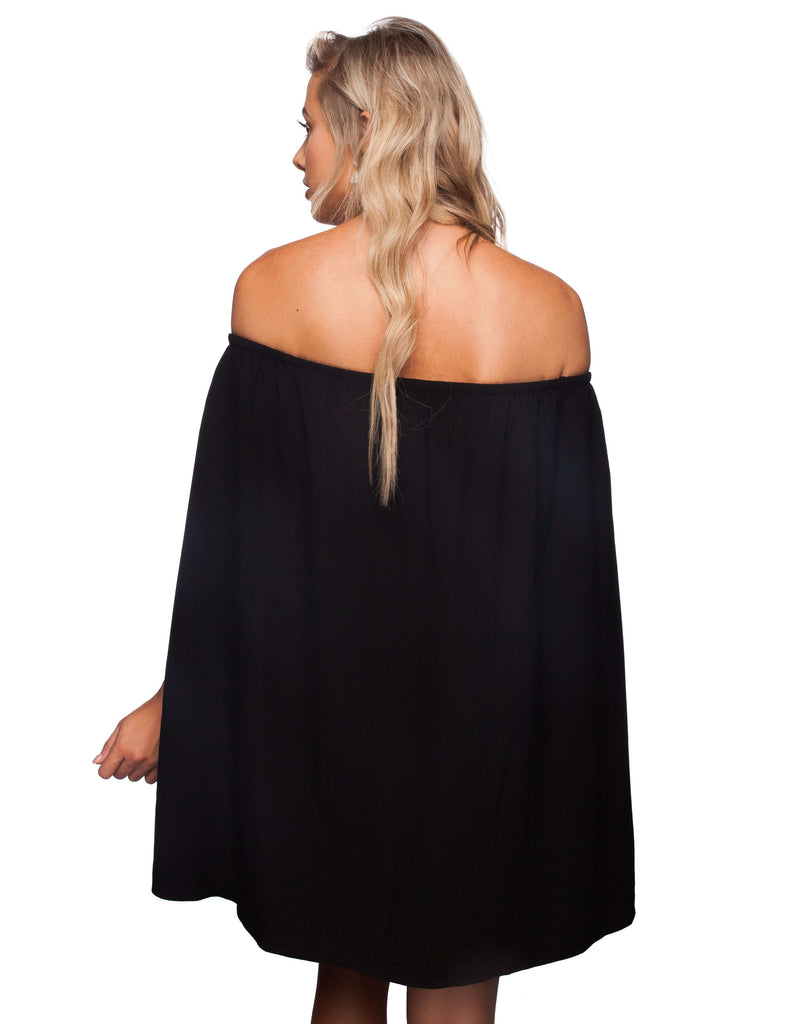 BuddyLove Jann Off the Shoulder Dress - Black - Buddy Love Clothing Label