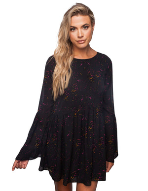 BuddyLove Hall Long Sleeved Dress - Dark Forest - Buddy Love Clothing Label