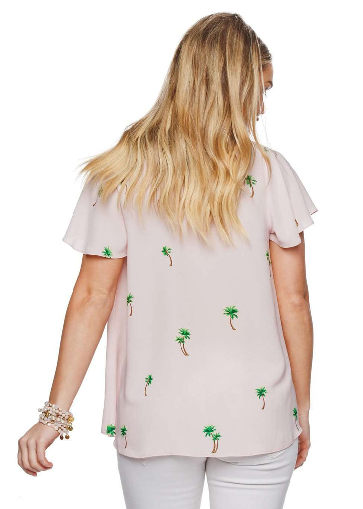 BuddyLove Unity Laced Up Short Sleeved Top - Island