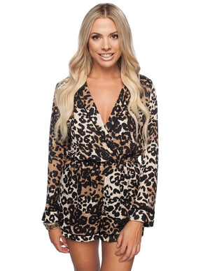 BuddyLove Lara Romper - Leopard - Buddy Love Clothing Label