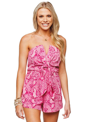 BuddyLove Jumbie Twist Front Strapless Romper - Passion - FINAL SALE - Buddy Love Clothing Label