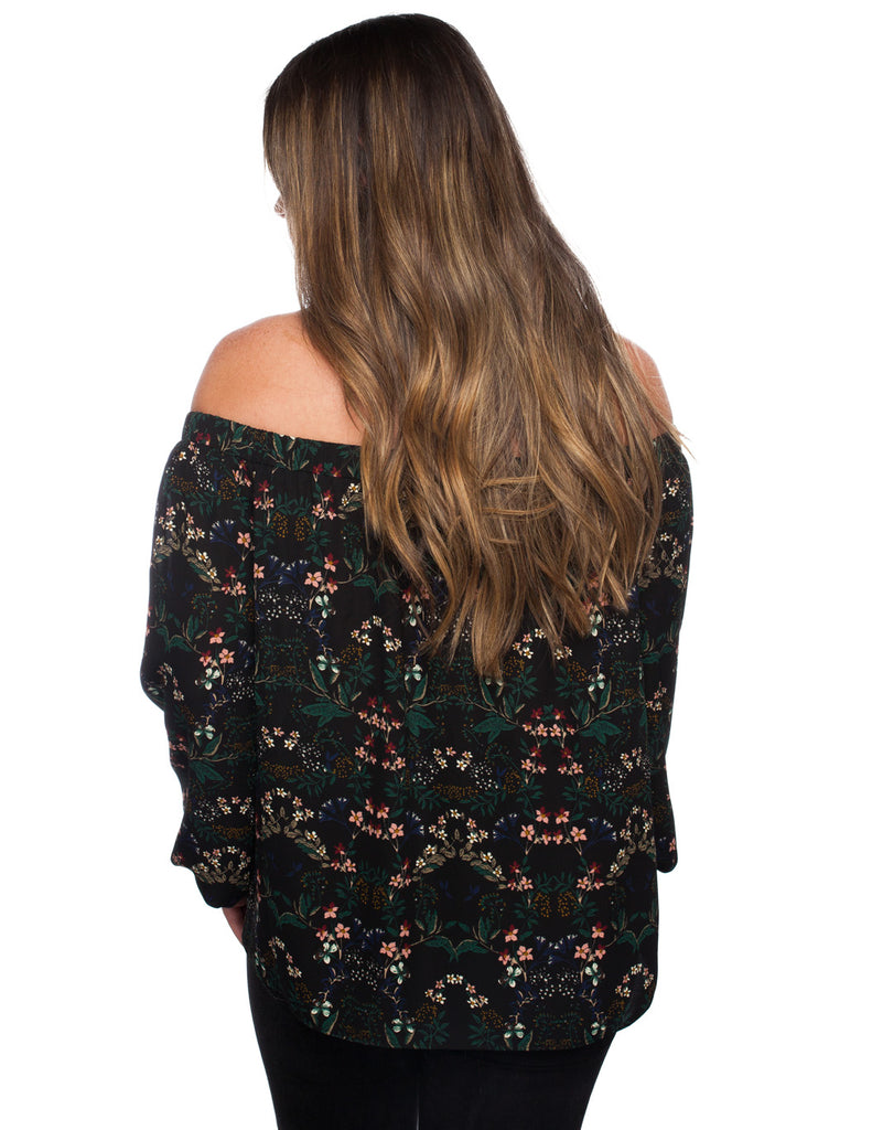 BuddyLove Gretah Off The Shoulder Top - Juniper - FINAL SALE