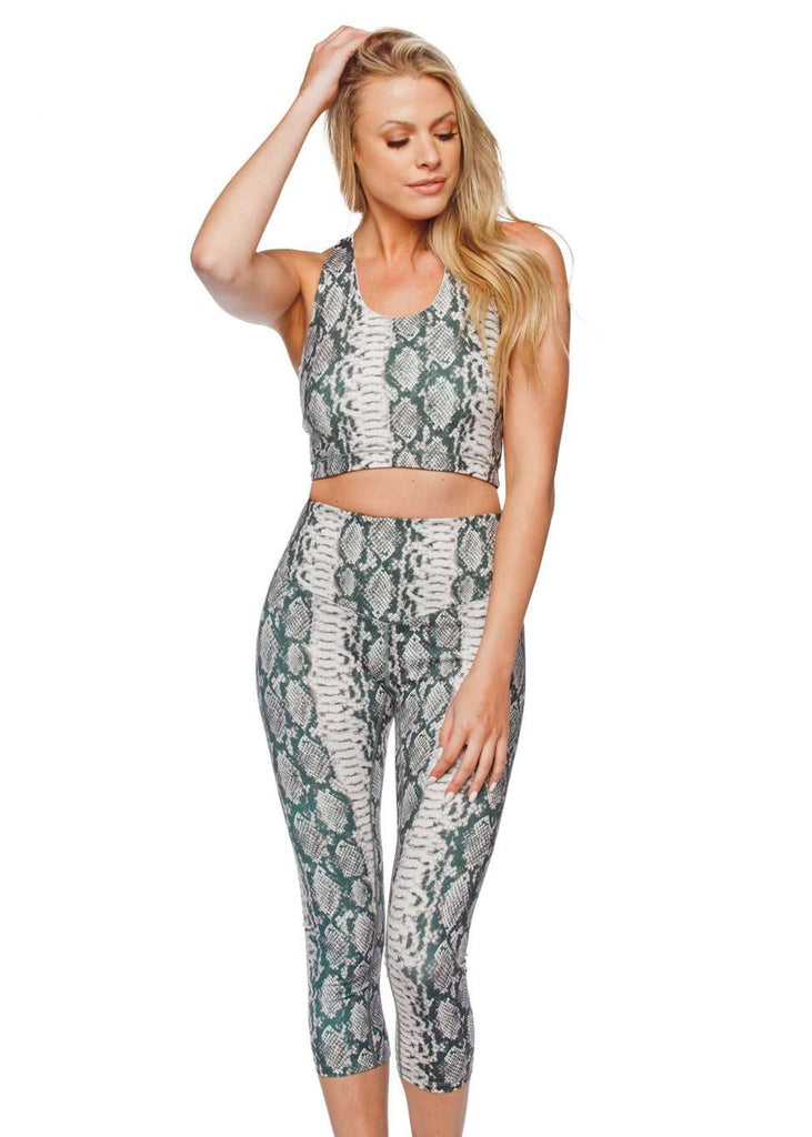 BuddyLove Tracy High Waisted Cropped Leggings - Serpent