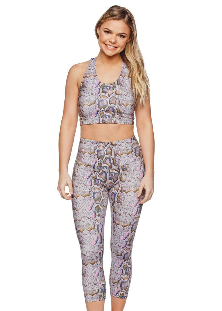 BuddyLove Tracy High Waisted Cropped Leggings - Mermaid