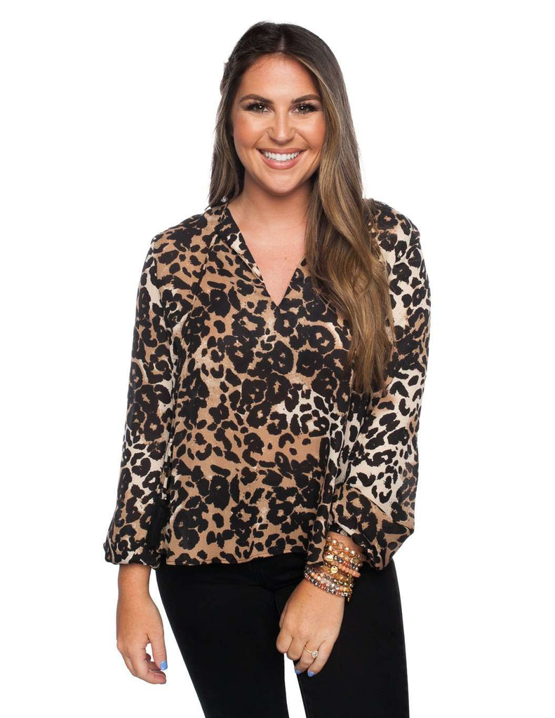 BuddyLove Meredith Top - Leopard - Buddy Love Clothing Label