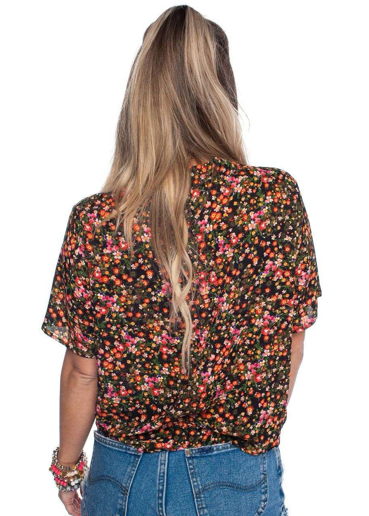 BuddyLove Bae Top - Black Floral - FINAL SALE - Buddy Love Clothing Label
