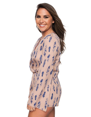 BuddyLove Burke Romper - Bluebird - FINAL SALE - Buddy Love Clothing Label