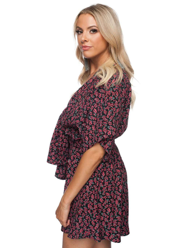 BuddyLove Connie Front Tie Mini Dress - Ivy - Buddy Love Clothing Label