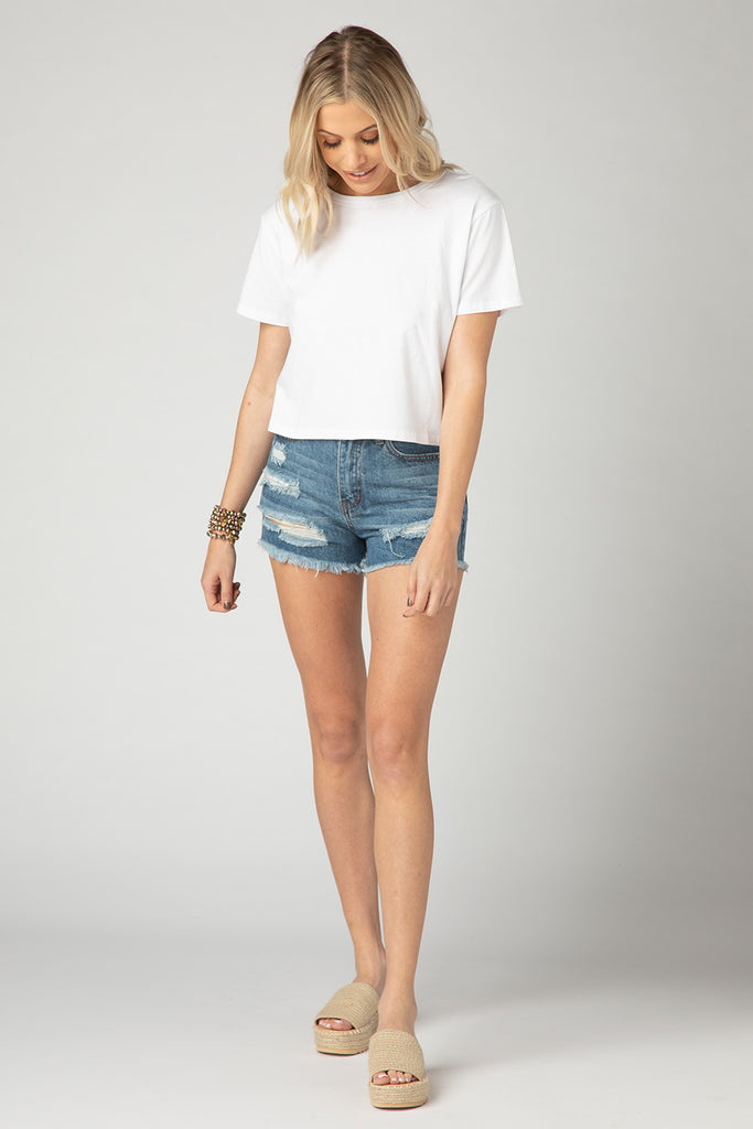 BuddyLove Marcus Cropped Tee - White