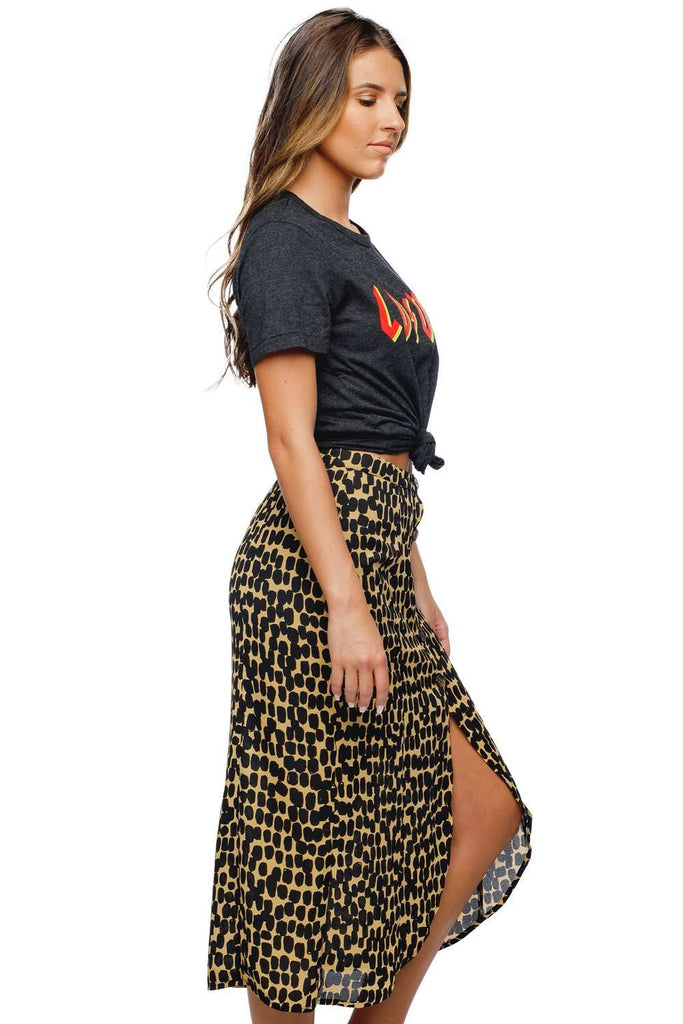 BuddyLove Maren Button Up Slit Mini Skirt - Brazil - Buddy Love Clothing Label