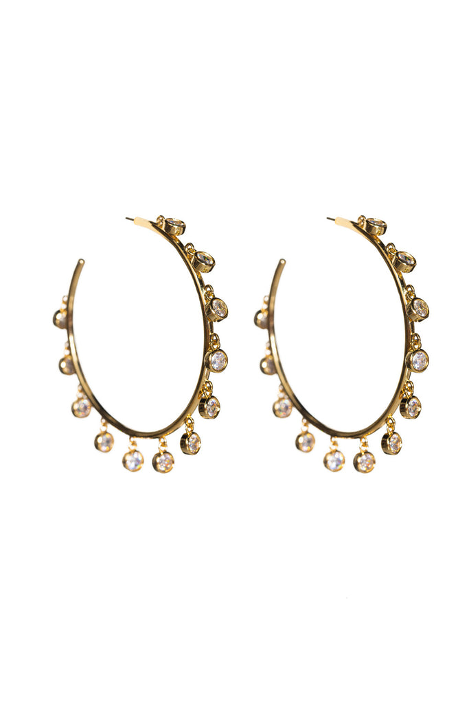 BuddyLove Marley Hoop Earring - Gold,Gold