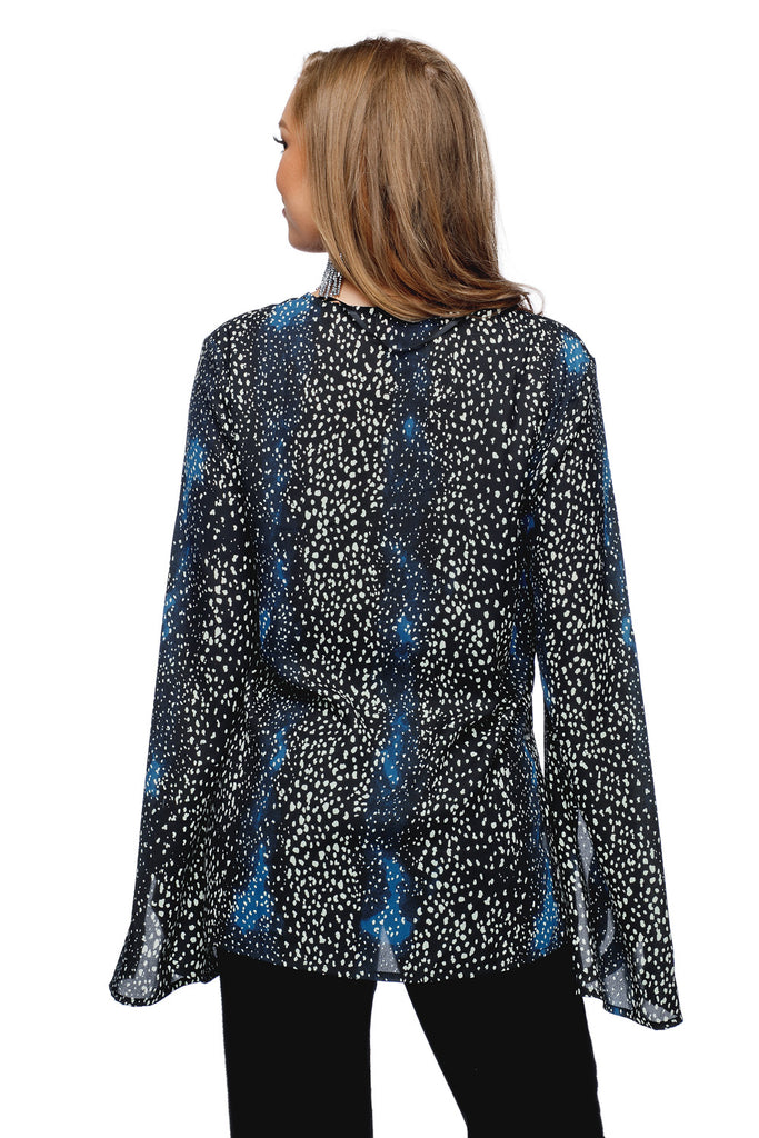 BuddyLove Megyn Long Sleeved V-Neck Top - Peacock