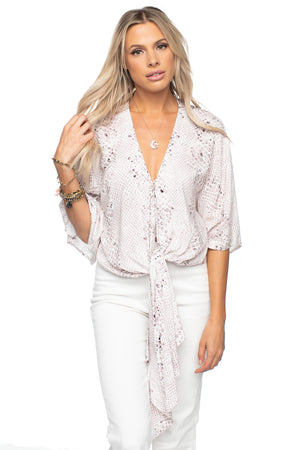 BuddyLove Muse Women's Tie Front Top